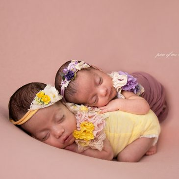 Gemelas – Book de fotos de bebes recién nacido
